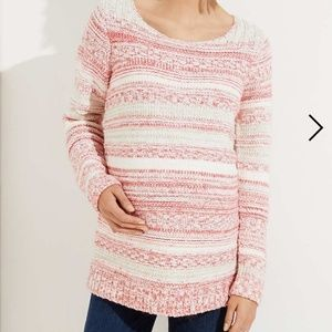 Maternity Rose Stripe Sweater NIP by Loft